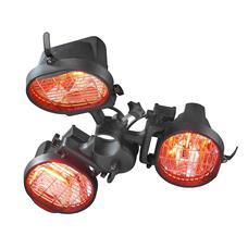 Инфракрасный электрический обогреватель Eurom 1500, 3-х ламповый 333329 bbq24