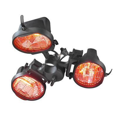 Инфракрасный электрический обогреватель Eurom 1500, 3-х ламповый 333329