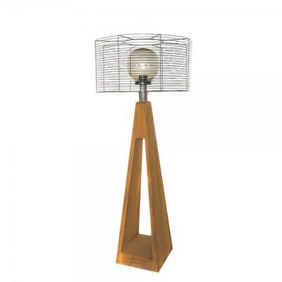 Фонарь с внешним осветителем Quan электрический, коричневый QN94374