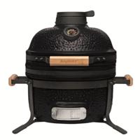 Комплект - керамический гриль-печь BergHoff средний, черный 8500893 + аксессуары