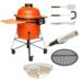Комплект - Большой керамический гриль-печь BergHoff, оранжевый 2415702 + аксессуары
