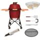 Комплект - Большой керамический гриль-печь BergHoff, красный 8500890 + акссессуары