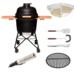 Комплект - Большой керамический гриль-печь BergHoff, черный 8500891 + аксессуары
