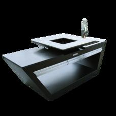 Кухня с колёсиками Quadro Premium Черная (с системой водоснабжения) QN91083