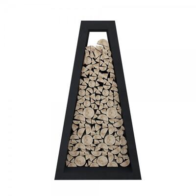 Стеллаж для хранения дров Quan Premium, черный