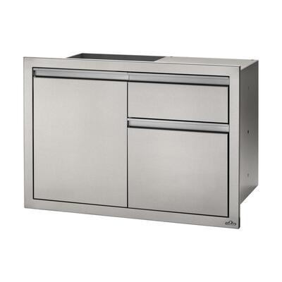 Модуль с 1-й дверью и тумбой для мусора и бумажных полотенец (91 * 61 см) Napoleon BI-3624-1D1W