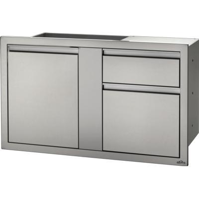 Модуль с 1-й дверью и тумбой для мусора и бумажных полотенец (107 * 61 см) BI-4224-1D1W